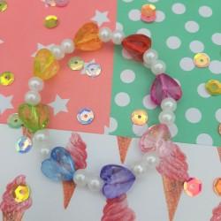 Bracelet Coeurs Rainbow