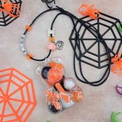 Halloween Teddy Bear Necklace