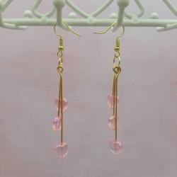 Boucles d'oreilles cœur rose
