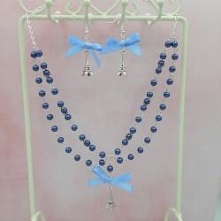 Parure Paris Argent et bleu