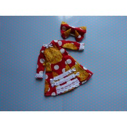 "Robe + Barrette ""Rouge Biscuits"""