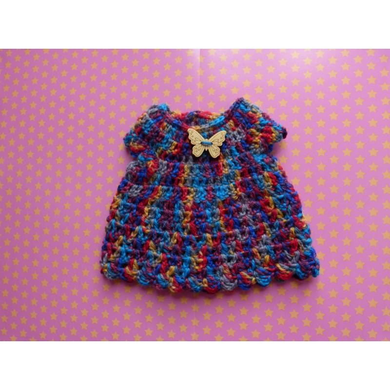 Pull crochet Animator bleu