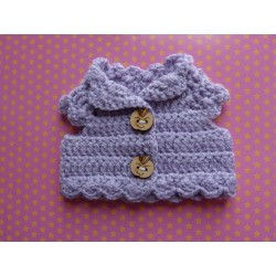 Crocheted Animator lavander pull-over