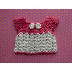 Crocheted Animator white-pink pull-over
