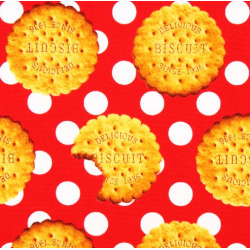 Fabric Red Biscuits