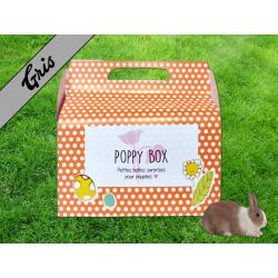 "Poppy Box ""Lapins"" Gris"
