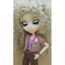 Crochet Pullip pink waistcoat