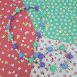 Blue Strawberry Necklace